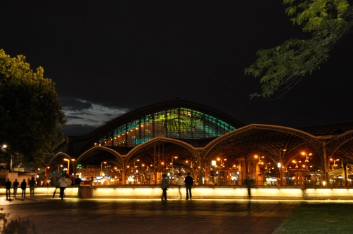 Cologne Central Station at Night