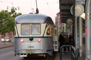 San Francisco PCC Streetcar 1060