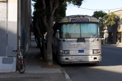 Bicycle and Bus