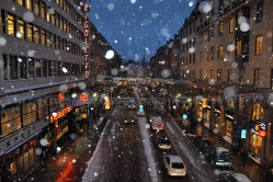 Snow on Kungsgatan