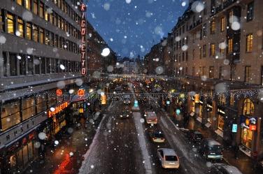 Snow on Kungsgatan